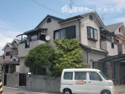 岸和田市八田町で外壁塗装前の状態