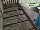 岸和田市のベランダの下の屋根もカラー鋼板です