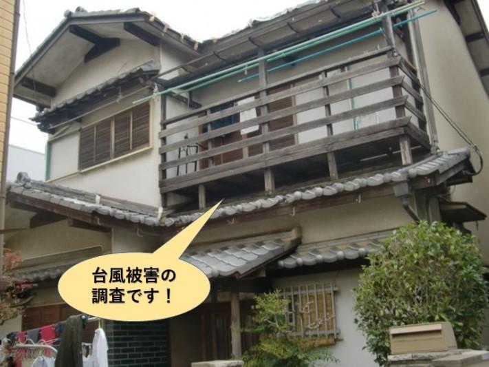 貝塚市の台風被害の調査