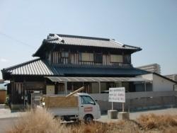 岸和田市東大路町の淡路産特上和瓦の屋根の葺き替え 現況