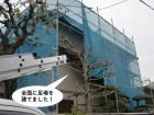熊取町で全面に足場を建てました