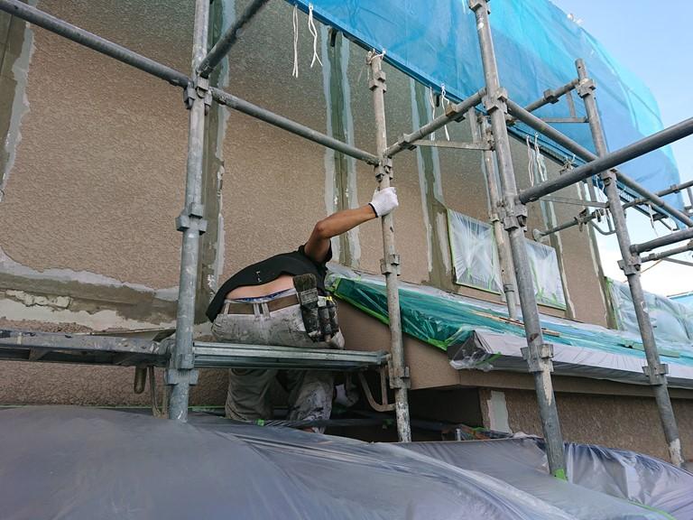泉大津市の外壁の下地補修