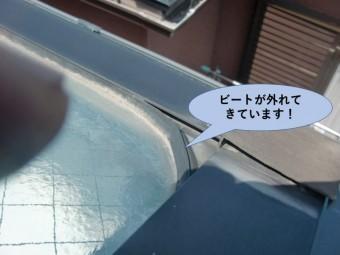 貝塚市王子のガラスのビート現況