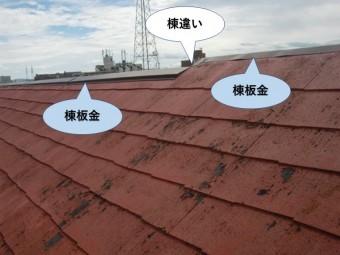 泉佐野市の屋根が棟違いになっています