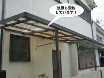 和泉市の波板も飛散
