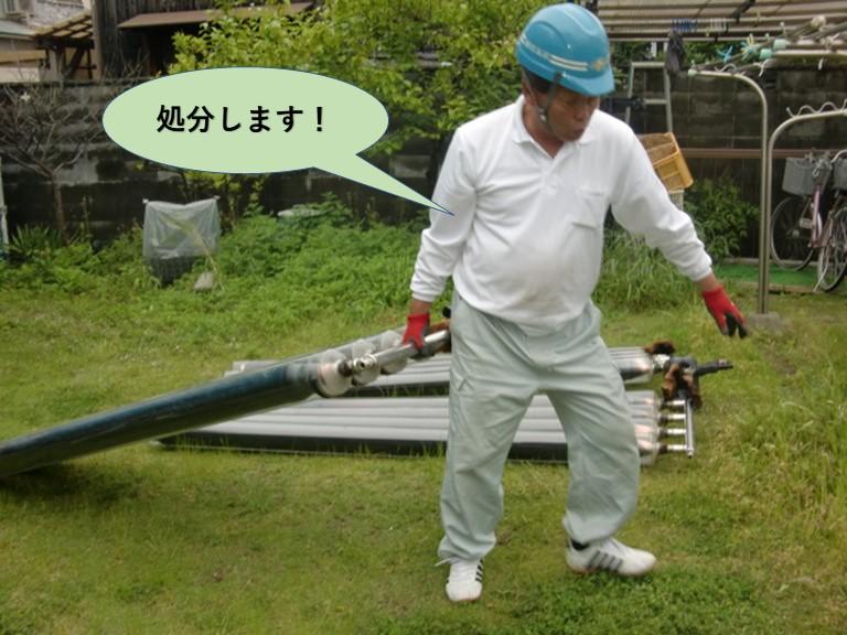 阪南市のソーラーを産業廃棄物処分します