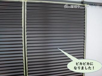 岸和田市の雨戸がピカピカになりました