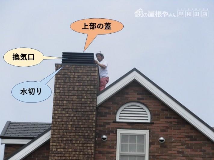 岸和田市の飾り煙突の形状