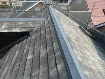 カビ除去する外壁・屋根塗装屋根洗浄終了