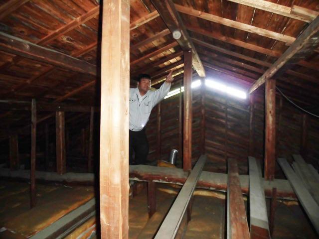 泉北郡忠岡町で屋根裏調査