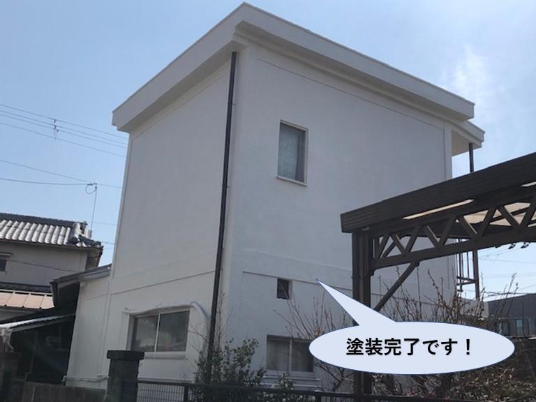 泉佐野市の外壁塗装完了です