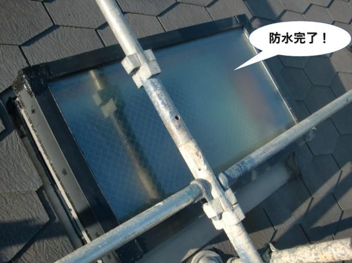 和泉市の天窓防水完了