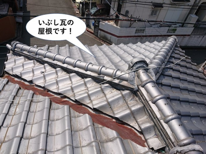 泉佐野市のいぶし瓦の屋根です!