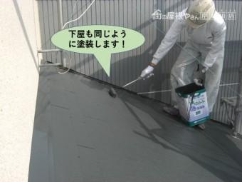 泉佐野市の下屋も同じように塗装します