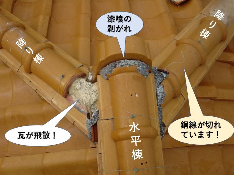 泉南市の屋根の被害