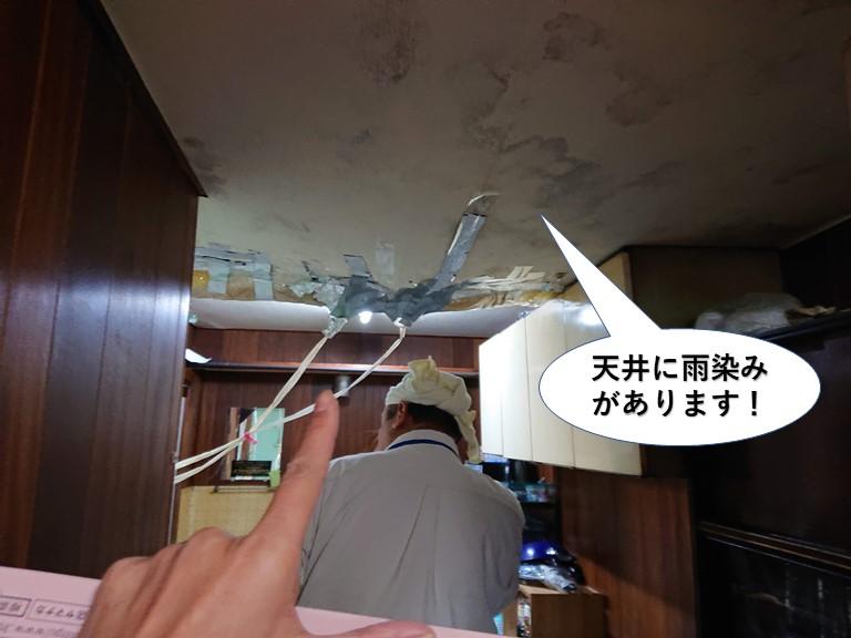 貝塚市の天井に雨染みがあります