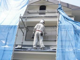 岸和田市土生町の雨戸の塗装