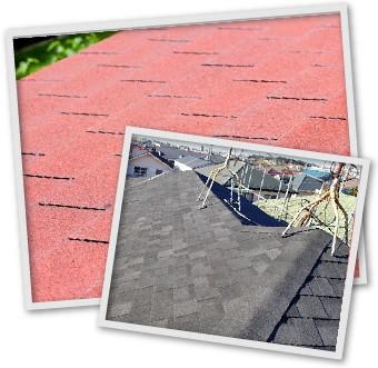 アスファルトシングルの屋根